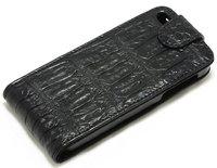 Чехол флип из кожи крокодила для iPhone 6s / 6 черный