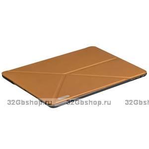 Чехол книжка подставка для iPad Air 2 золотой - Birscon Simple series Golden
