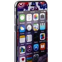 Стекло защитное с узором для iPhone 6s Plus/ 6 Plus комплект на 2 стороны красно-синяя хохлома