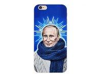 Пластиковый чехол накладка Deppa для iPhone 6s / 6 Путин звезда 0,7мм (пленка в комплекте )