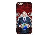 Пластиковый чехол накладка Deppa для iPhone 6s / 6 Путин и глобус  0,7мм (пленка в комплекте)