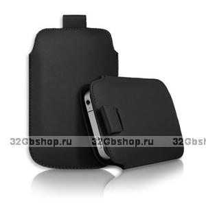 Чехол карман c язычком Pull Tab Pouch Black для iPhone 5 / 5s / SE черный