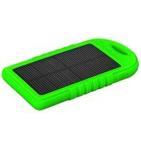 Универсальный внешний аккумулятор Solar charger ES500 Power Bank 5000mAh два выхода USB 5V 2x1A зеленый