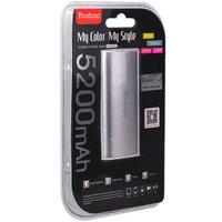 Внешний аккумулятор Yoobao Power Bank YB-6012 Sliver 5200 mAh один выход USB 5V 1A