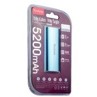 Внешний аккумулятор Yoobao Power Bank YB-6012 Blue 5200 mAh один выход USB 5V 1A - голубой