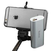 Внешний аккумулятор Yoobao Bluetooth Selfie Power Bank S2 Silver 5200 mAh один выход USB 5V 2.1A