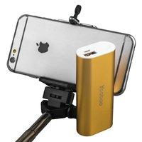 Универсальный внешний аккумулятор Yoobao Bluetooth Selfie Power Bank S2 Gold 5200 mAh один выход USB 5V 2.1A