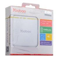 Внешний аккумулятор Yoobao Power Bank Master M4 White 10400 mAh два выхода USB 5V 1A & 5V 2.1A