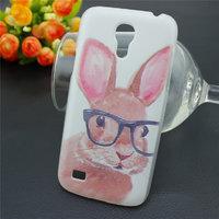 Чехол пластиковый для Samsung Galaxy S4 Mini с рисунком Кролик в очках