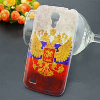 Чехол пластиковый для Samsung Galaxy S4 Mini с рисунком Герб и Флаг России