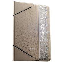 Белый кожаный чехол iBacks для iPad Air 2 с узором - VV Structure Leather Case Nameplating Edition White