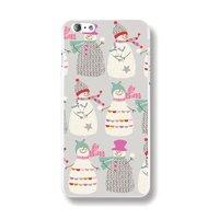 Пластиковый чехол накладка для iPhone 6s / 6 Снеговики