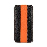Кожаный чехол Melkco для iPhone 5C черный с оранжевой полосой - Melkco Leather Case Jacka Type Limited Edition Black/ Orange LC