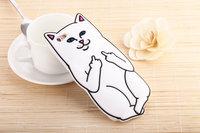 """Белый силиконовый чехол для iPhone 6 / 6s (4.7"""") Кот"""