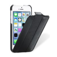 Кожаный чехол Melkco для iPhone 5C черный с полосой страус - Melkco Leather Case Vintage Black and Ostrich Print Pattern - Bitumen Black