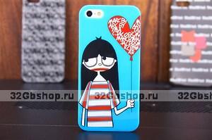 Накладка-чехол Girl Marc by Marc для iPhone 5 / 5s / SE