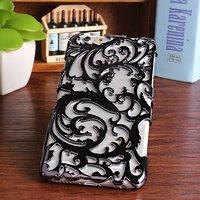 Накладка с узором Chrome Flower Black для iPhone 6s Plus / 6 Plus черная
