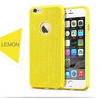 Супертонкий,ультра легкий силиконовый чехол для iPhone 6s / 6 Желтый