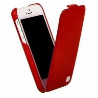 Кожаный чехол HOCO для iPhone 5C - HOCO Duke Leather Case Red