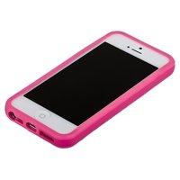 Розовый бампер для iPhone 5C с розовой полосой