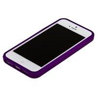 Фиолетовый бампер для iPhone 5C с фиолетовой полосой