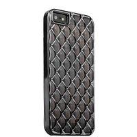 Объемный силиконовый чехол для iPhone 5s / SE / 5 прозрачно-черный с серыми ромбами