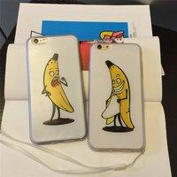 """Прозрачный силиконовый чехол для iPhone 6s / 6 (4.7"""") Бананы комплект 2 штуки"""
