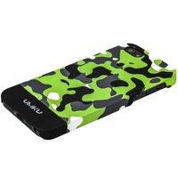 Пластиковый чехол для iPhone 5s / SE / 5 зеленый камуфляж