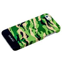 Пластиковый чехол для iPhone 5s / SE / 5 камуфляж зеленый с бежевым