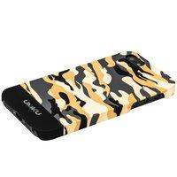 Пластиковый чехол для iPhone 5s / SE / 5 камуфляж серый с бежевым