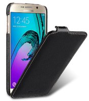 Черный кожаный чехол для Samsung Galaxy S7- Melkco Premium Leather Case Jacka Type (Black LC)