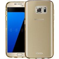 Золотой прозрачный силиконовый чехол для Samsung Galaxy S7