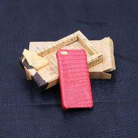 Кожаная накладка для iPhone 5s / SE / 5 розовая