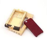 Кожаная накладка для iPhone 5s / SE / 5 фиолетовая