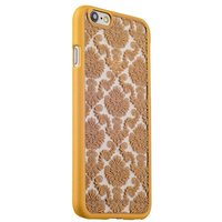 Золотая пластиковая накладка для iPhone 6s / 6 с узором