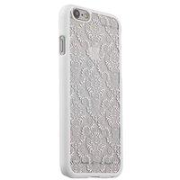 Белая пластиковая накладка для iPhone 6s / 6 с узором