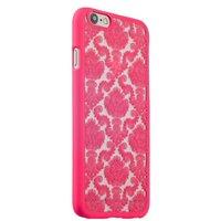 Розовая пластиковая накладка для iPhone 6s / 6 с узором