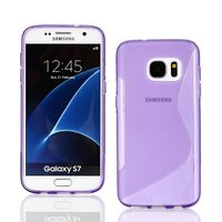 Фиолетовый силиконовый чехол c волной для Samsung Galaxy S7 - S Line Wave Silicone Case Purple
