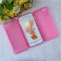 Розовый прозрачный силиконовый чехол для iPhone 5 SE