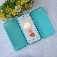 Голубой прозрачный силиконовый чехол для iPhone 5 SE