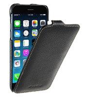 Черный кожаный чехол для iPhone SE