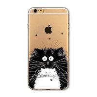 """Прозрачный силиконовый чехол накладка для iPhone 6s / 6 (4.7"""") Коты"""