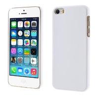 Белый матовый пластиковый чехол для iPhone SE