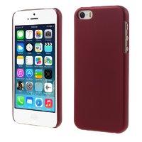 Красный матовый пластиковый чехол для iPhone SE