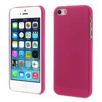 Малиновый матовый пластиковый чехол для iPhone SE