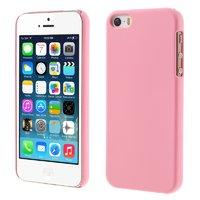 Розовый матовый пластиковый чехол для iPhone SE