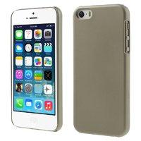 Серый матовый пластиковый чехол для iPhone SE