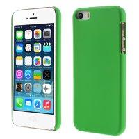Зеленый матовый пластиковый чехол для iPhone SE