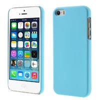 Голубой матовый пластиковый чехол для iPhone SE