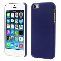 Синий матовый пластиковый чехол для iPhone SE